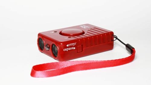 """Кнопка включения ультразвука на корпусе отпугивателя собак """"SITITEK ГРОМ-250М"""" (нажмите на картинку для увеличения)"""