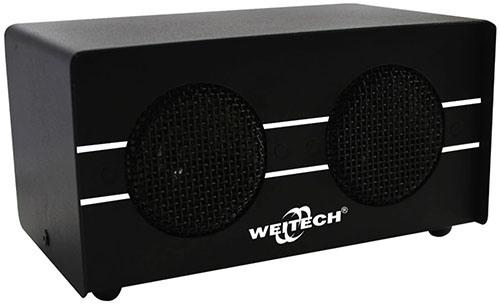 """Отпугиватель грызунов """"Weitech WK-0600"""" выпускается в добротном металлическом корпусе и имеет сразу два ультразвуковых излучателя (нажмите на картинку для увеличения)"""