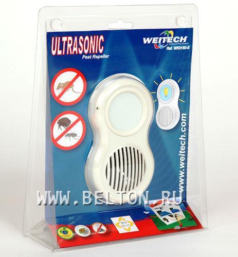 Ультразвуковой отпугиватель грызунов и насекомых Weitech WK 0180 в упаковке