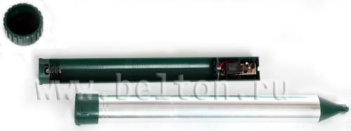Так выглядит батарейный отсек отпугивателя кротов Sititek Гром-Профи